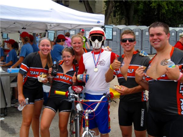 RAGBRAI XXXIX 2011 TEAM HALF ASS! BMX Mongoose
