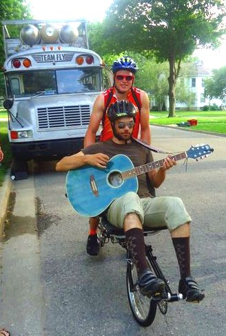 TEAM FLY RAGBRAI Guitar Bike