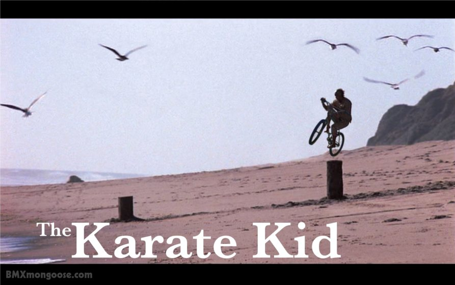 Pat Morita Bicycle! Mr. Miyagi on the Mongoose two-four! The Karate Kid Bike!
